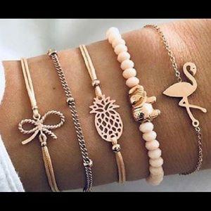 🍒 3 for $30✨ Retro 5pcs BoHo bracelet set_NWT